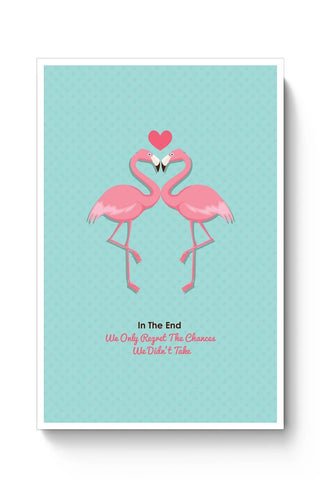 Blue Flamingo with Quote Poster Online India
