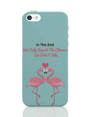 Blue Flamingo with Quote iPhone 5/5S Covers Cases Online India