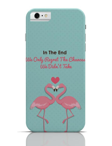 Blue Flamingo with Quote iPhone 6 6S Covers Cases Online India