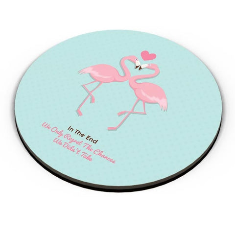 Blue Flamingo with Quote Fridge Magnet Online India