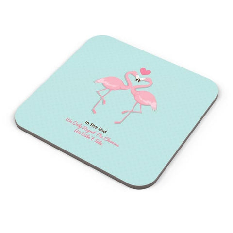 Blue Flamingo with Quote Coaster Online India