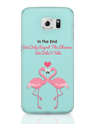 Blue Flamingo with Quote Samsung Galaxy S6 Covers Cases Online India