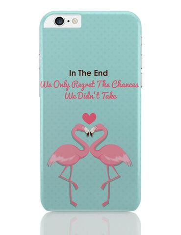 Blue Flamingo with Quote iPhone 6 Plus / 6S Plus Covers Cases Online India