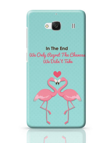 Blue Flamingo with Quote Redmi 2 / Redmi 2 Prime Covers Cases Online India