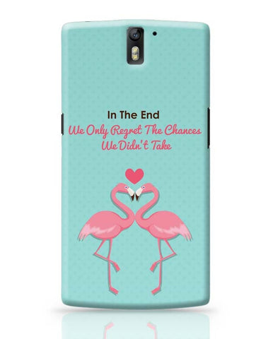 Blue Flamingo with Quote OnePlus One Covers Cases Online India
