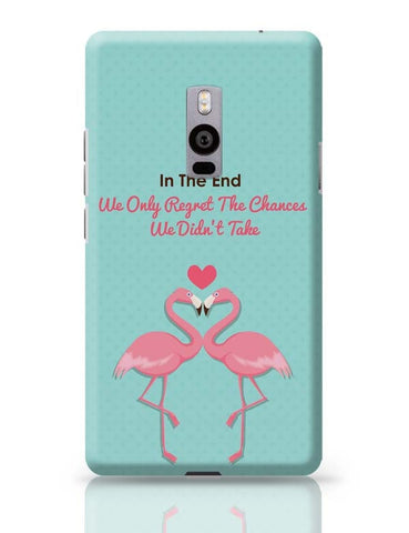 Blue Flamingo with Quote OnePlus Two Covers Cases Online India