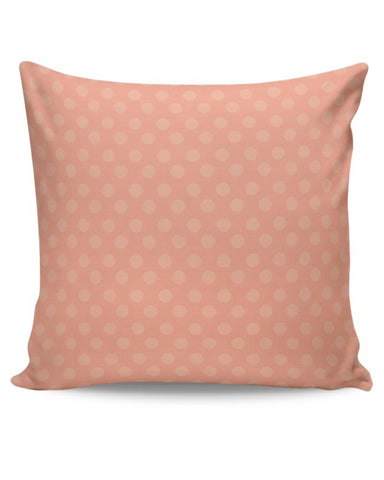 Peach,Dots,Evergreen,Pretty,Abstract Cushion Cover Online India