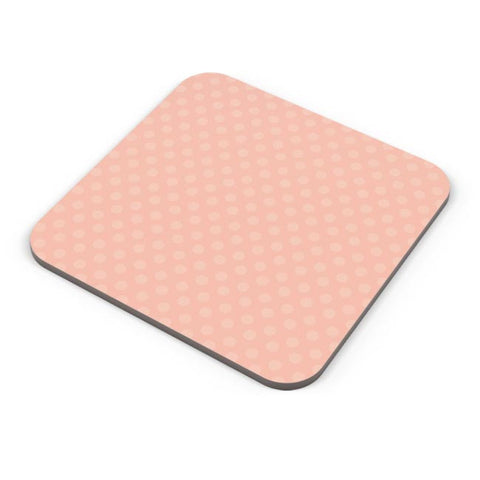 Peach,Dots,Evergreen,Pretty,Abstract Coaster Online India
