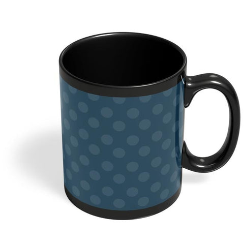 Blue,Dots,Evergreen,Pretty,Abstract Black Coffee Mug Online India