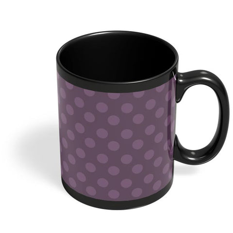 Purple,Dots,Evergreen,Pretty,Abstract Black Coffee Mug Online India