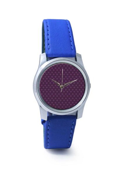 Women Wrist Watch India | Purple Dots Wrist Watch Online India