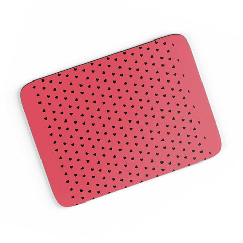 Red And Black Hearts A4 Mousepad Online India