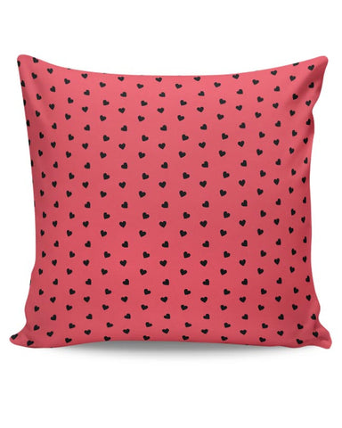 Red,Hearts,Black,Love,Abstract,Evergreen,Small Cushion Cover Online India