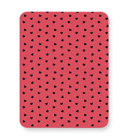 Red,Hearts,Black,Love,Abstract,Evergreen,Small Mousepad Online India