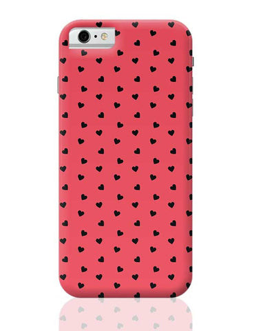 Red,Hearts,Black,Love,Abstract,Evergreen,Small iPhone 6 / 6S Covers Cases