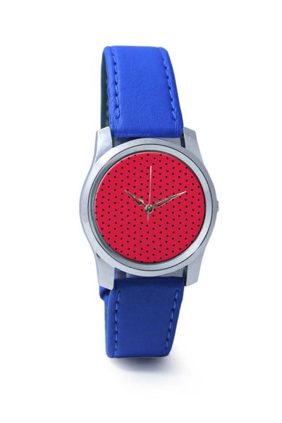 Women Wrist Watch India | Red and Black Hearts Wrist Watch Online India