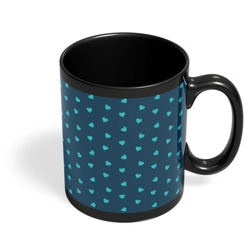 Blue,Hearts,Love,Abstract,Evergreen,Small Black Coffee Mug Online India