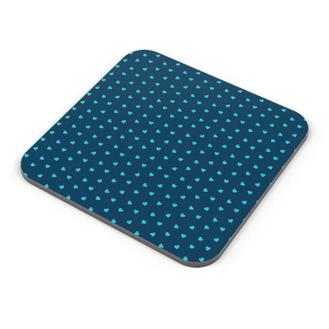 Blue,Hearts,Love,Abstract,Evergreen,Small Coaster Online India