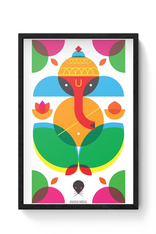 Geometric Ganesha Framed Poster Online India