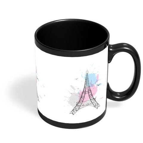 Eiffel Tower Black Coffee Mug Online India