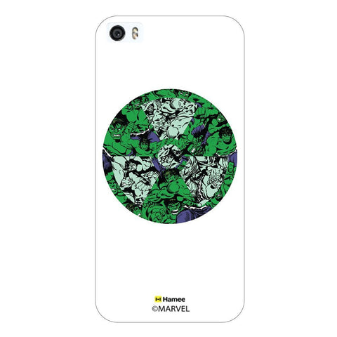Hulk Logo Doodle White iPhone 5/5S Case Cover