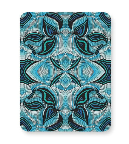 Blue, Pattern, Repeat, Abstract, Trippy, Lines, Aqua Mousepad Online India