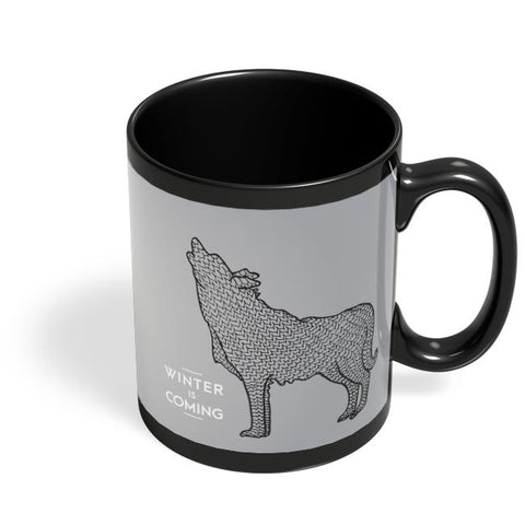 Winter Is Coming Black Coffee Mug Online India