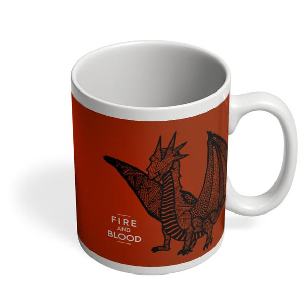Fire And Blood Coffee Mug Online India
