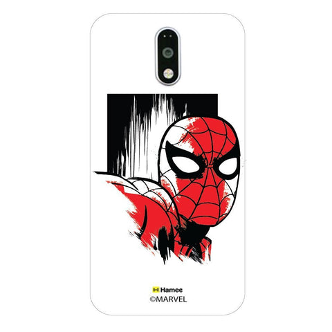 Spiderman Face Sketch  Moto G4 Plus Case Cover