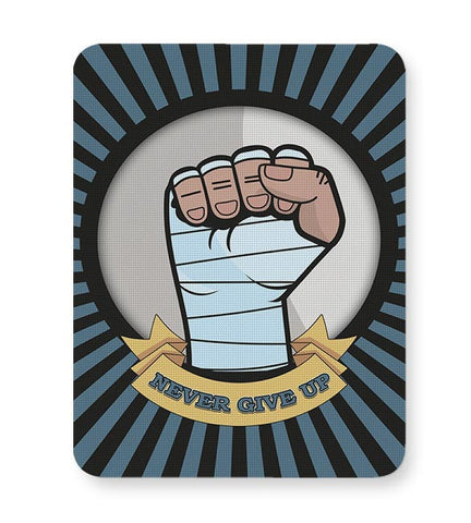 Never Give Up  Mousepad Online India