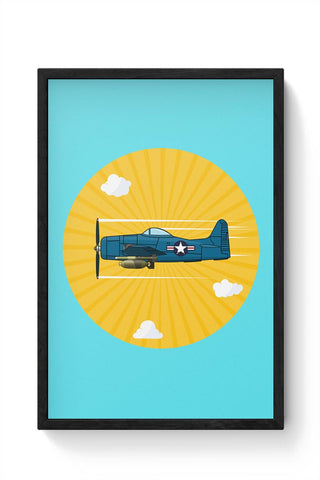 Grumman F8F Bearcat Framed Poster Online India