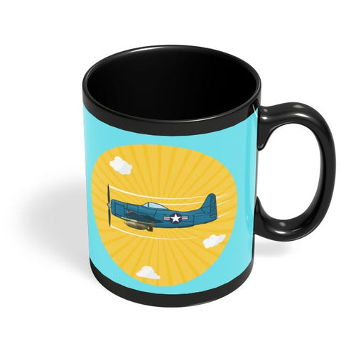 Grumman F8F Bearcat Black Coffee Mug Online India
