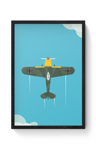 Luftwaffe Plane Framed Poster Online India