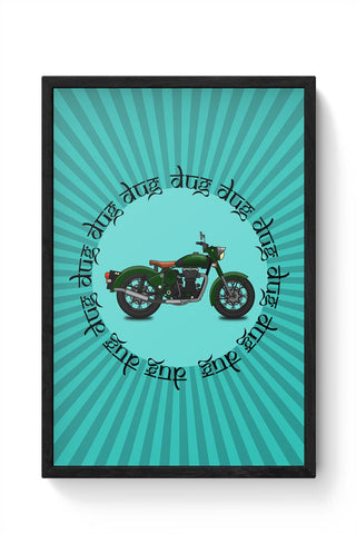 royal enfield bike Framed Poster Online India