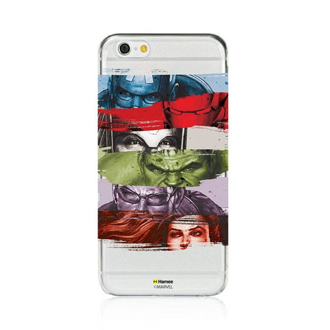Avengers Faces Clear iPhone 6 Plus / 6S Plus Cover Case