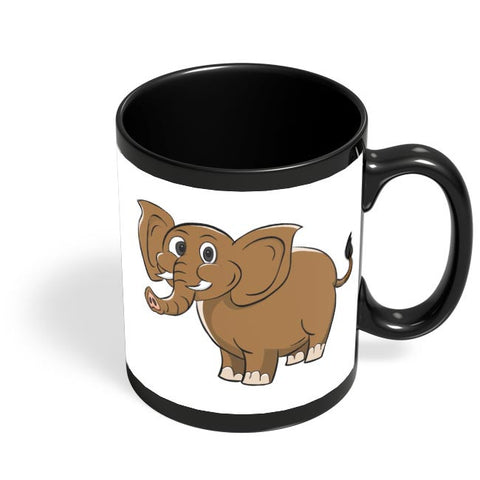 Cute Elephant Black Coffee Mug Online India