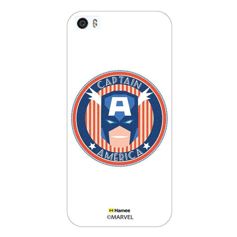 Captain America Round Deco White iPhone 6 Plus / 6S Plus Case Cover