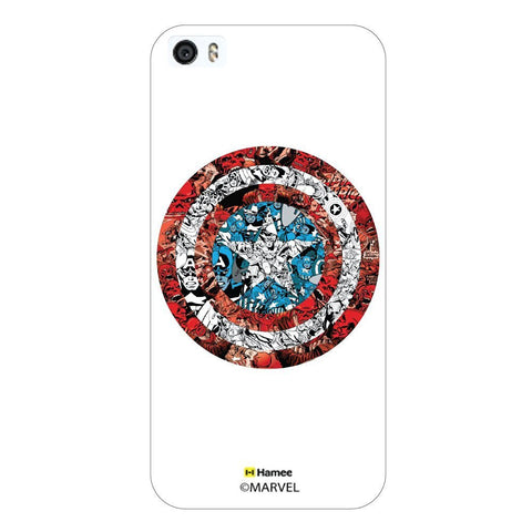 Captain America Doodle Shield White iPhone 5/5S Case Cover