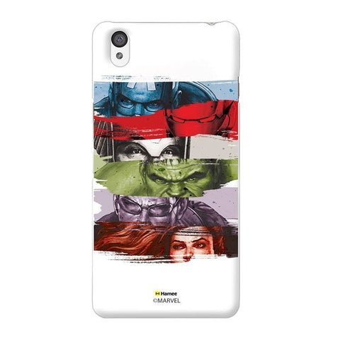 Avengers Faces White Oneplus X Case Cover