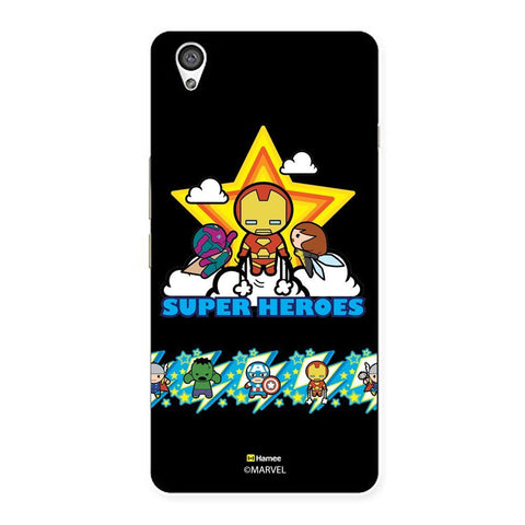 Black Cute Avengers Superheroes  Oneplus X Case Cover