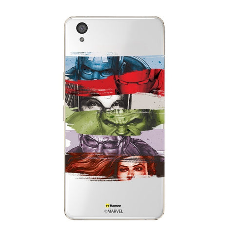 Avengers Faces Clear Oneplus X Case Cover