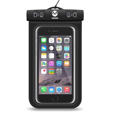 Waterproof Mobile Pouch Case Smart Phone Accessory - Rain & Dust Protection - Underwater Protection - IPX8 Certified by Trekken