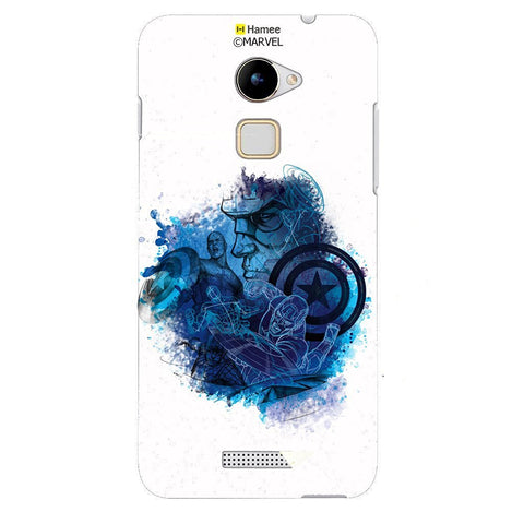 Blue Avengers Splash White Coolpad Note 3 Lite Case Cover