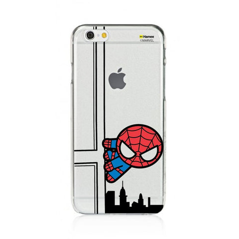 Cute Spiderman Building Clear iPhone 6 Plus / 6S Plus Cover Case
