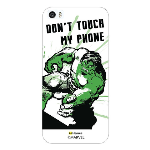 Hulk Don'T Touch My Phone White iPhone 5/5S Case Cover