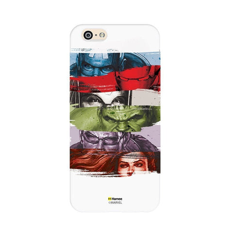 Avengers Faces White iPhone 6 Plus / 6S Plus Cover Case