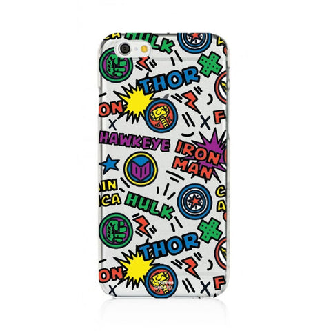 Superhero Names Clear iPhone 6S/6 Case Cover