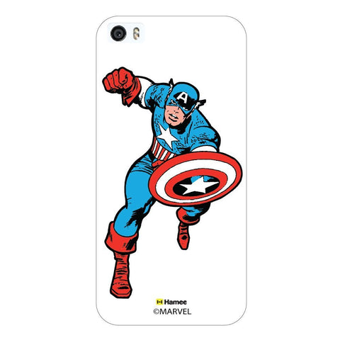 Captain America Action White iPhone 5/5S Case Cover