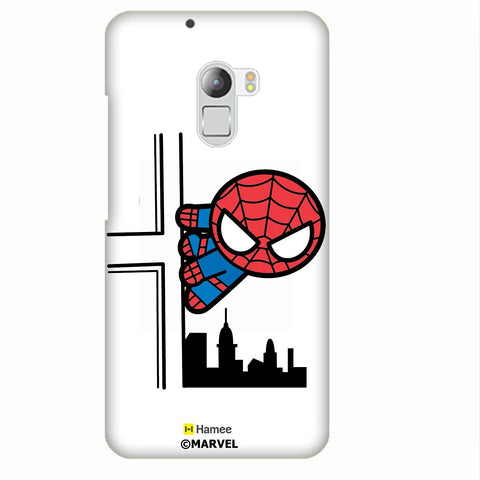 Cute Spiderman Building White Lenovo K4 Note/Vibe K4 Note Case Cover
