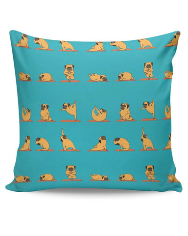 PUG YOGA Cushion Cover Online India